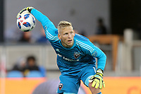 San Jose, CA - Saturday May 19, 2018: David Ousted during a Major League Soccer (MLS) match between the San Jose Earthquakes and D.C. United at Avaya Stadium.