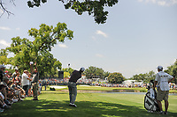 Billy Horschel (USA) hits his approach shot on 9 during round 2 of the Dean &amp; Deluca Invitational, at The Colonial, Ft. Worth, Texas, USA. 5/26/2017.<br /> Picture: Golffile | Ken Murray<br /> <br /> <br /> All photo usage must carry mandatory copyright credit (&copy; Golffile | Ken Murray)