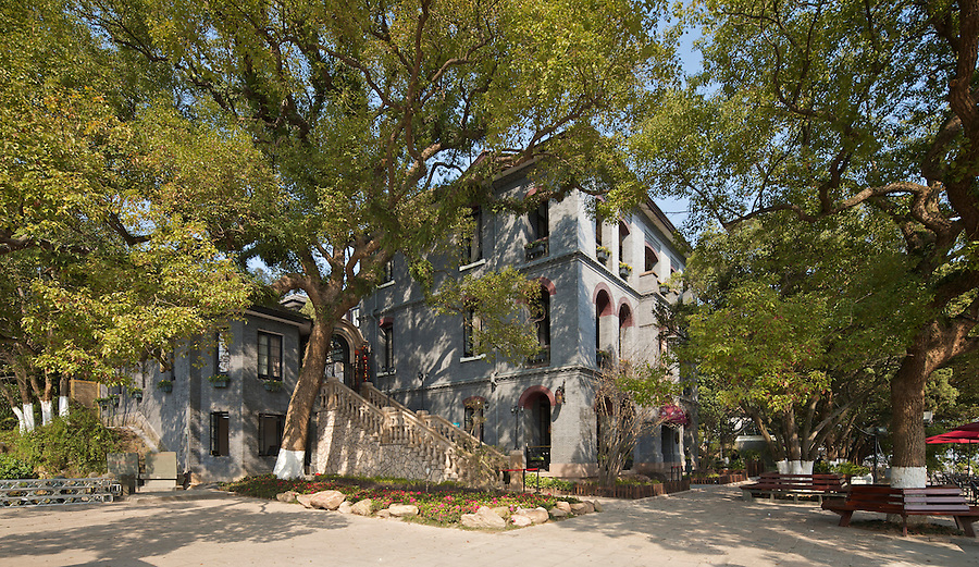 The Impressive Three-Storey Consulate On Jiangxin Island, Wenzhou (Wenchow).  Built In 1894.<br />