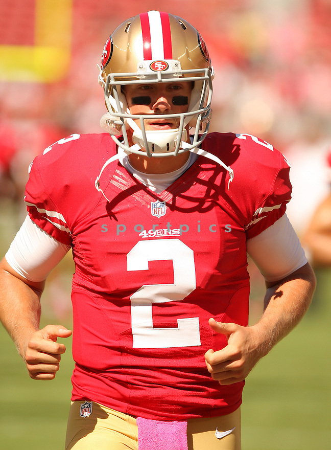 San Francisco 49ers Blaine Gabbert (2) during a game against the Kansas City Chiefs on October 5, 2014 at Levi's Stadium in Santa Clara, CA. the 49ers beat the Chiefs 22-17.
