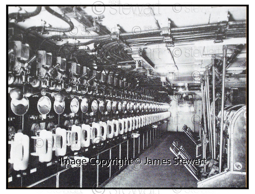 12/04/2002        Copyright Pic : James Stewart .Ref :                           .File Name : stewart06-moyes                       .THE ELECTRICITY CONTROL ROOM ABOARD THE TITANIC WHERE WILLIAM MOYES WORKED  RIGHT UP TO THE MOMENT HE DIED...........(see copy from George Mair / Tim Bugler).....James Stewart Photo Agency, Stewart House, Stewart Road, Falkirk. FK2 7AS      Vat Reg No. 607 6932 25.Office : 01324 570906        Mobile : 07721 416997.E-mail : jim@jspa.co.uk.           : jim@jamesstewart.co.uk.If you require further information then contact Jim Stewart on any of the numbers above.........