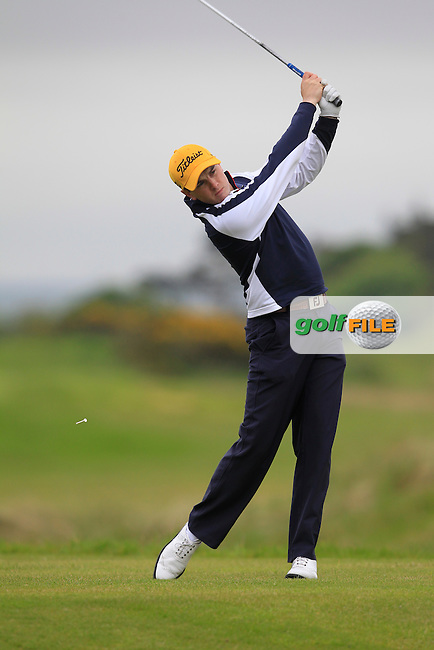 Mark O'Mahony during the PGA Sprint at Seapoint on Monday 25th May 2015.<br /> Picture:  Thos Caffrey / www.golffile.ie