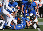 Bishop Gorman and Reed players fight for a loose ball during the first half of the NIAA 4A state championship football game in Reno, Nev., on Saturday, Dec. 2, 2017. Cathleen Allison/Las Vegas Review Journal @NVMomentum