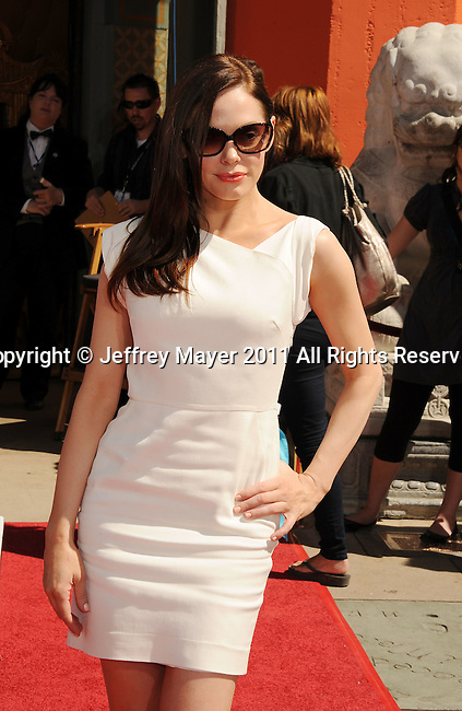 HOLLYWOOD, CA - APRIL 30: Rose McGowan attends the TCM Classic Film Festival honors Actor Peter O'Toole with hand and foot ceremony held at Grauman's Chinese Theatre on April 30, 2011 in Hollywood, California.