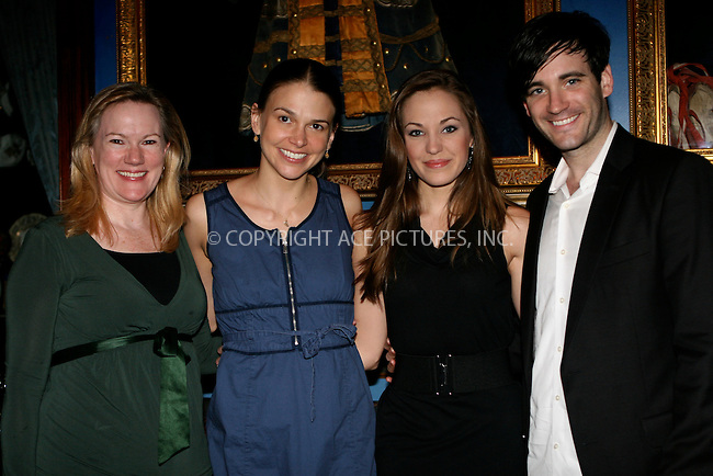 WWW.ACEPIXS.COM . . . . .  ....April 26 2011, New York City....Katheleen Marshall, Sutton Foster, Laura Osnes and Nick Admas at the Fred and Adele Astaire Awards Nominees anouncements on April 26 2011 in New York City....Please byline: NANCY RIVERA- ACEPIXS.COM.... *** ***..Ace Pictures, Inc:  ..Tel: 646 769 0430..e-mail: info@acepixs.com..web: http://www.acepixs.com