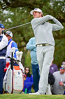 Aaron Baddeley (AUS) watches his tee shot on 17 during round 3 of the Valero Texas Open, AT&amp;T Oaks Course, TPC San Antonio, San Antonio, Texas, USA. 4/22/2017.<br /> Picture: Golffile | Ken Murray<br /> <br /> <br /> All photo usage must carry mandatory copyright credit (&copy; Golffile | Ken Murray)