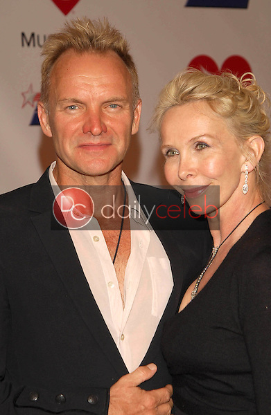 Sting and Trudie Styler<br />