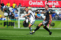 Mike van der Hoorn of Swansea City in action during the Sky Bet Championship match between Swansea City and Birmingham City at the Liberty Stadium in Swansea, Wales, UK. Sunday 25, August 2019