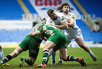 Tomas Francis of Exeter Chiefs takes on the London Irish defence. Aviva Premiership match, between London Irish and Exeter Chiefs on February 21, 2016 at the Madejski Stadium in Reading, England. Photo by: Patrick Khachfe / JMP