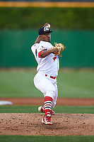 Peoria Chiefs pitcher Dewin Perez (41) delivers a pitch during a game against the Wisconsin Timber Rattlers on August 21, 2015 at Dozer Park in Peoria, Illinois.  Wisconsin defeated Peoria 2-1.  (Mike Janes/Four Seam Images)