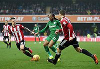 Preston's Daniel Johnson, Josh McEachran, Henrik Dalsgaard<br /> <br /> Photographer Jonathan Hobley/CameraSport<br /> <br /> The EFL Sky Bet Championship - Brentford v Preston North End - Saturday 10th February 2018 - Griffin Park - Brentford<br /> <br /> World Copyright &copy; 2018 CameraSport. All rights reserved. 43 Linden Ave. Countesthorpe. Leicester. England. LE8 5PG - Tel: +44 (0) 116 277 4147 - admin@camerasport.com - www.camerasport.com
