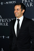 "LOS ANGELES - OCT 24:  Arash Amel at the ""A Private War"" Premiere at the Samuel Goldwyn Theater on October 24, 2018 in Beverly Hills, CA"