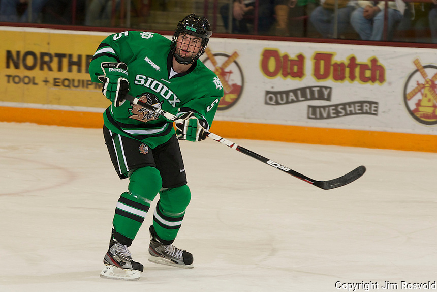 4 Nov 11: Nick Mattson (North Dakota - 5). The University of Minnesota Golden Gophers host the University of North Dakota Fighting Sioux in a WCHA matchup at Mariucci Arena in Minneapolis, MN.