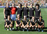 19 July 2009: FC Gold Pride Starting XI pose together for group photo before the game against the Boston Breakers at Buck Shaw Stadium in Santa Clara, California.   Boston Breakers defeated FC Gold Pride, 1-0.
