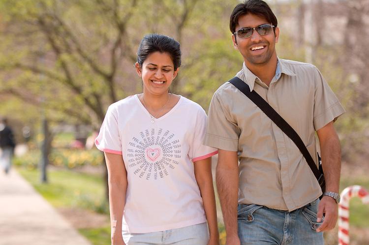 18615Spring Campus..Manjeet Singh and Deepika Singh