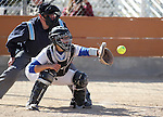 Western Nevada College's Katirina Rand catches against Colorado Northwestern on Friday, April 6, 2012, in Carson City, Nev..Photo by Cathleen Allison