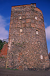 A752R0 Medieval tower and town wall Great yarmouth Norfolk England