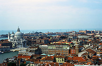 Venice:  From The Campanile--looking west to Santa Maria Della Salute.  Photo '83.