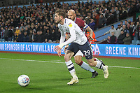 Preston North End's Tom Barkuizen in action with Aston Villa's Alan Hutton<br /> <br /> Photographer Mick Walker/CameraSport<br /> <br /> The EFL Sky Bet Championship - Aston Villa v Preston North End - Tuesday 2nd October 2018 - Villa Park - Birmingham<br /> <br /> World Copyright &copy; 2018 CameraSport. All rights reserved. 43 Linden Ave. Countesthorpe. Leicester. England. LE8 5PG - Tel: +44 (0) 116 277 4147 - admin@camerasport.com - www.camerasport.com