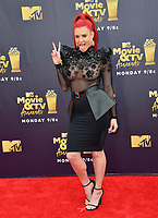 Justina Valentine  at the 2018 MTV Movie &amp; TV Awards at the Barker Hanger, Santa Monica, USA 16 June 2018<br /> Picture: Paul Smith/Featureflash/SilverHub 0208 004 5359 sales@silverhubmedia.com