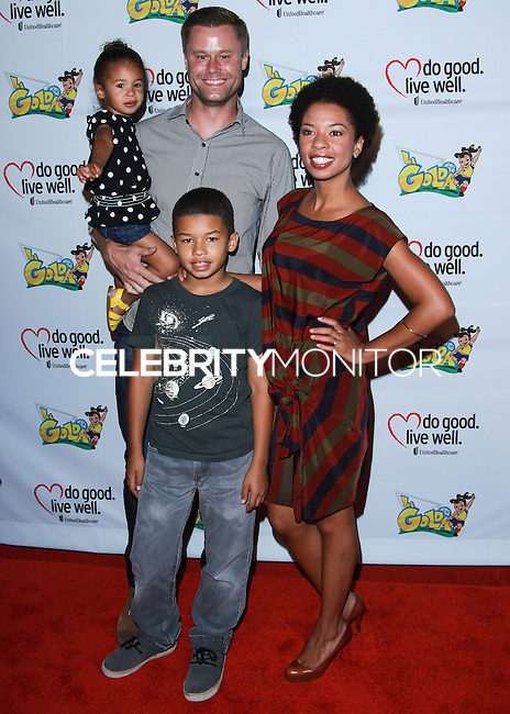 "WESTWOOD, LOS ANGELES, CA, USA - JUNE 21: Eric Nenninger, Angel Parker at the Los Angeles Premiere Of ""La Golda"" held at The Crest on June 21, 2014 in Westwood, Los Angeles, California, United States. (Photo by David Acosta/Celebrity Monitor)"