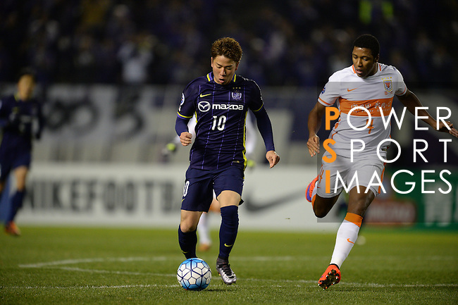 SANFRECCE HIROSHIMA (JPN) vs SHANDONG LUNENG FC (CHN) during the 2016 AFC Champions League Group F Match Day 1 match on 23 February 2016 in Hiroshima, Japan.