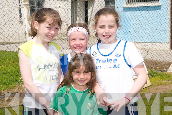 7210 - 7214.HARRIERS: Runners from Tralee Harriers who took part in the St Brendan's Ardfert Sports Day at Ardfert GAA grounds on Monday l-r: Hannah, Rebecca, Rachel and Courtney Ryan.. .