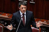 Matteo Renzi<br /> Roma 18-03-2015 Camera. Informativa del Presidente del Consiglio sul Consiglio Europeo. Speech of the Premier.<br /> Photo Samantha Zucchi Insidefoto