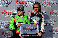 Danica Patrick (#7) captures her first pole in the Nationwide Series.
