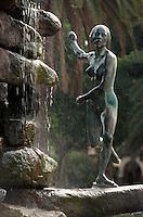 Spanien, Kanarische Inseln, Gran Canaria, Las Palmas, Brunnen im Parque Doramas