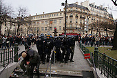 Paris, France<br /> April 4, 2006<br /> <br /> Near Place de la Republic nearly 500,000 people demonstrate in Paris, as part of a nationwide day of strikes and protests to call for the complete abrogation of the unpopular First Employment Contract (CPE). Gangs of youths clashed with riot police who responded with tear gas as violence erupted in Paris and other French cities after more than a million people protested against an unpopular youth jobs plan.