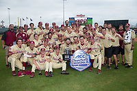 The Florida State Seminoles pose for a team photo following their win over the North Carolina Tar Heels during the 2017 ACC Baseball Championship Game at Louisville Slugger Field on May 28, 2017 in Louisville, Kentucky.  The Seminoles defeated the Tar Heels 7-3.  (Brian Westerholt/Four Seam Images)