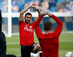 Daniel Lafferty of Sheffield Utd warms up during the Championship match at the Hillsborough Stadium, Sheffield. Picture date 24th September 2017. Picture credit should read: Simon Bellis/Sportimage