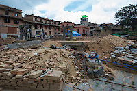Nepal, Bungamati village that was basically destroyed by earthquake damage.