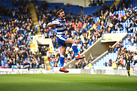 John Swift of Reading scores the equaliser to make the score 1-1 and celebrates during Reading vs Wigan Athletic, Sky Bet EFL Championship Football at the Madejski Stadium on 9th March 2019