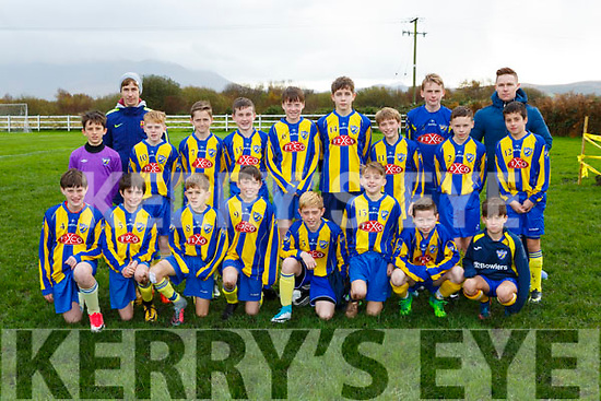 The Killorglin team that played Iveragh United in the u13 FAI cup in Killorglin on Saturday
