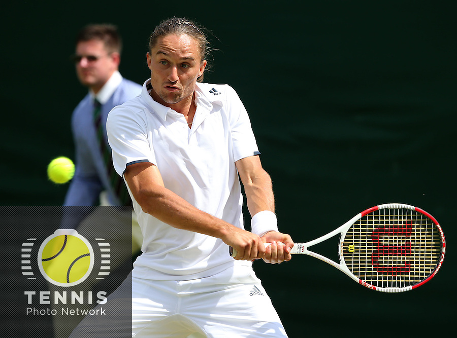 ALEXANDR DOLGOPOLOV (UKR)<br /> <br /> The Championships Wimbledon 2014 - The All England Lawn Tennis Club -  London - UK -  ATP - ITF - WTA-2014  - Grand Slam - Great Britain -  25th. June 2014. <br /> <br /> © J.Hasenkopf / Tennis Photo Network