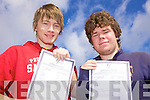 College bound for Ryan Walsh and Adam O'Sullivan who received their Leaving Certificate results on Wednesday in St Joseph's Secondary School, Ballybunnion.