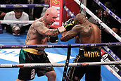 24th March 2018, O2 Arena, London, England; Matchroom Boxing, WBC Silver Heavyweight Title, Dillian Whyte versus Lucas Browne; Lucas Browne lands a right hand to Dillian Whyte in the neutral corner