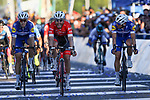Giacomo Nizzolo (ITA) Trek-Segafredo wins Stage 7 of the Vuelta a San Juan 2018, running 141.3km from San Juan to San Juan. 28th January 2018.<br /> Picture: Ilario Biondi/BettiniPhoto | Cyclefile<br /> <br /> <br /> All photos usage must carry mandatory copyright credit (&copy; Cyclefile | Ilario Biondi/BettiniPhoto)