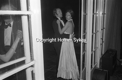 The right wing of the Conservative party The Monday Club, hold their annual dinner dance ball at the Hurlingham Club. London. England. 1975
