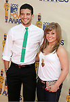 UNIVERSAL CITY, CA. - May 31: Dancers Mark Ballas and Shawn Johnson  arrive at the 2009 MTV Movie Awards held at the Gibson Amphitheatre on May 31, 2009 in Universal City, California.