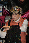 Days of Our Lives' Louise Sorel stops by Jane Elissa' Hats for Health (promoting awareness and to raise money for Leukemia/Lymphoma cancer research and patient aid) booth at the Grand Central's Vanderbilt Hall Holiday Fair on December 24, 2010 in New York City, New York. There are 76 vendors with the fair running from Thanksgiving to Dec. 24. (Photo by Sue Coflin/Max Photos)