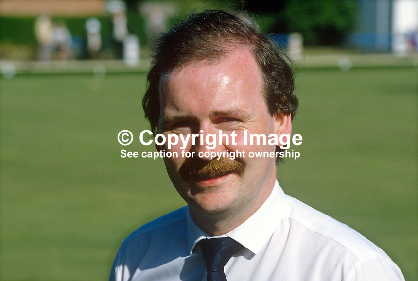 Jim Baker, Cliftonville, Belfast, N Ireland, bowler, 19840059JB..Copyright Image from Victor Patterson, 54 Dorchester Park, Belfast, UK, BT9 6RJ..Tel: +44 28 9066 1296.Mob: +44 7802 353836.Voicemail +44 20 8816 7153.Skype: victorpattersonbelfast.Email: victorpatterson@me.com.Email: victorpatterson@ireland.com (back-up)..IMPORTANT: If you wish to use this image or any other of my images please go to www.victorpatterson.com and click on the Terms & Conditions. Then contact me by email or phone with the reference number(s) of the image(s) concerned.