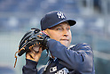 Derek Jeter (Yankees),<br /> APRIL 10, 2014 - MLB :<br /> Derek Jeter of the New York Yankees during practice before the baseball game against the Baltimore Orioles at Yankee Stadium in Bronx, New York, United States. (Photo by Thomas Anderson/AFLO) (JAPANESE NEWSPAPER OUT)