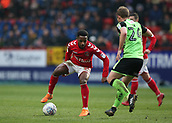 24th March 2018, The Valley, London, England;  English Football League One, Charlton Athletic versus Plymouth Argyle; Tariqe Fosu of Charlton Athletic is marked by David Fox of Plymouth Argyle