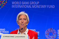 Washington, DC - April 11, 2019: IMF Managing Director Christine Lagarde holds a press conference during the IMF/World Bank Spring Meetings in Washington, D.C., April 11, 2019.  (Photo by Don Baxter/Media Images International)