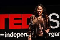 Alicia Arenas, founder of Sanera, The People Development Company, speaks during the TEDxSan Antonio 2010 event, Saturday, Oct. 16, 2010, at Trinity University in San Antonio. (Darren Abate/pressphotointl.com)