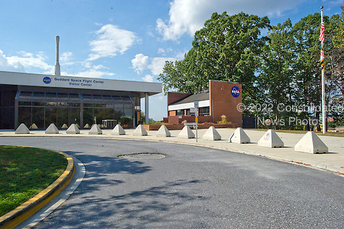 There are no tours at the closed Visitors Center at the NASA / Goddard Space Flight Center in Greenbelt, Maryland on Tuesday, October 1, 2013.  NASA had to close the facility due to Congress not passing a funding bill by midnight September 30.  <br /> Credit: Ron Sachs / CNP<br /> (RESTRICTION: NO New York or New Jersey Newspapers or newspapers within a 75 mile radius of New York City)