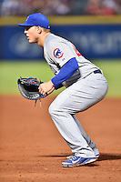 Chicago Cubs first baseman Anthony Rizzo (44) during a game against the Atlanta Braves on July 18, 2015 in Atlanta, Georgia. The Cubs defeated the Braves 4-0. (Tony Farlow/Four Seam Images)